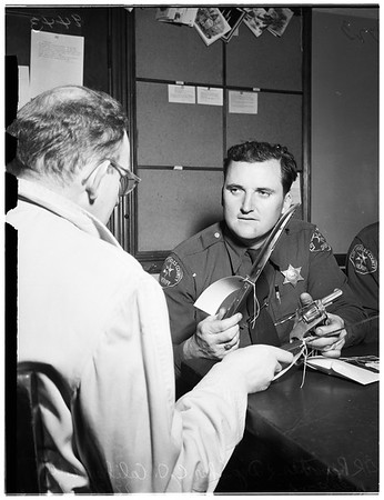 Assault with intent to murder ...wife knifes hysband ...James Edward Eagleston, victim (not in picture), 1951