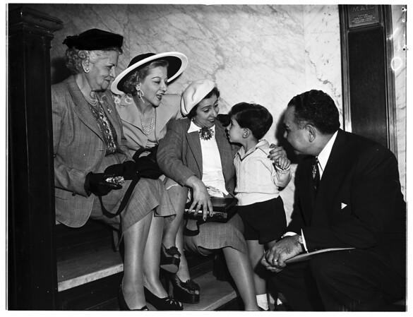 "Three Generations Get ""Naturalization Examinations"", 1951"