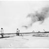 Fire at the B. F. McDonald Company on West 96th Street, near Inglewood, 1951