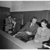 Preliminary hearing ... Earl J. Lewis (not in picture), accused of slaying G.I. with help of G.I.'s wife, 1952