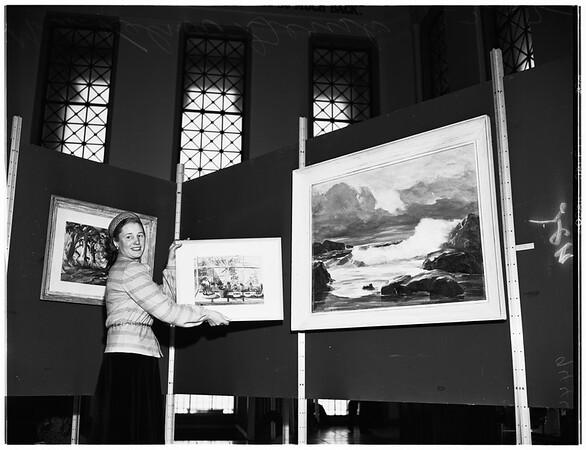 Las Artistas at City Hall Art Gallery, 1952