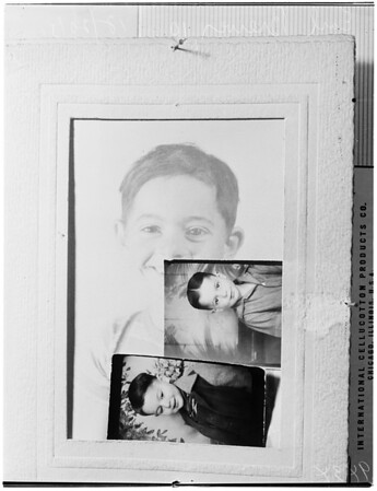 Boy Writes Mother Via Biscailuz, 1951