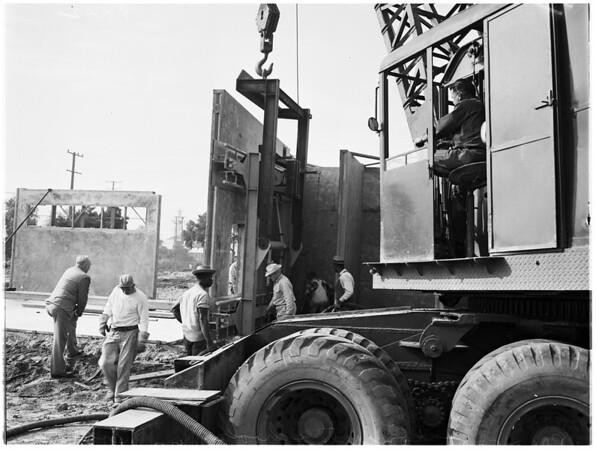 New method of construction ...pre-cast concrete, 1951