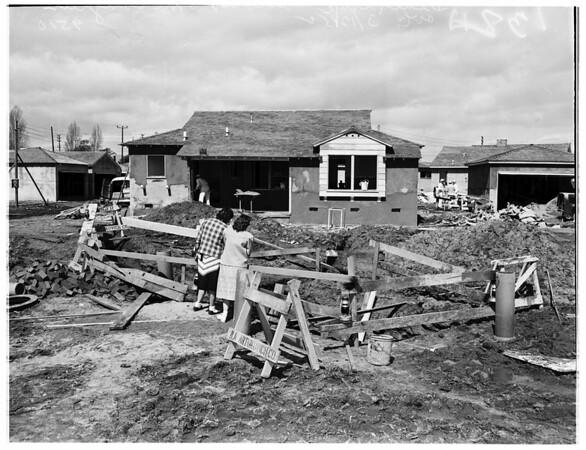 Death trap at Victoria Avenue and McLaughlin Avenue barricaded, 1952
