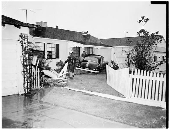 Car into house ...9417 Kittyhawk Avenue, 1952