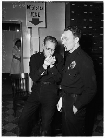 Two officers beaten, 1951