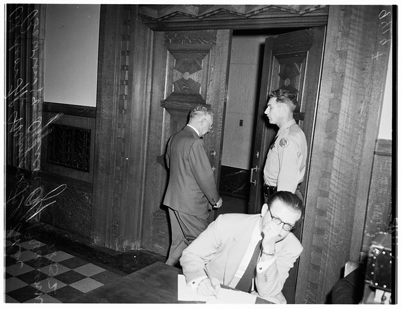 Housing hearing (State Building), 1952