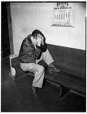 Kidnap arrest in Long Beach, 1952