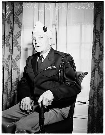Purple heart commander, 1952