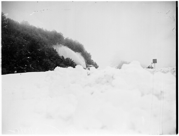 Snow on Angeles Crest, 1952