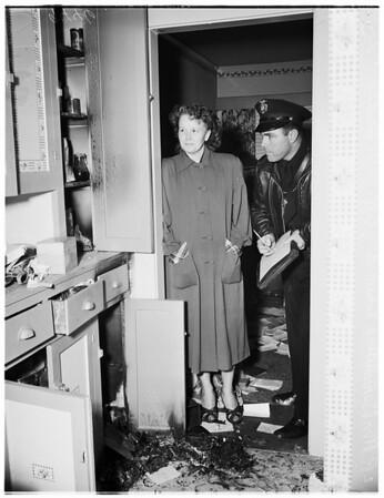 Burglary Arson, 1952