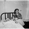 Mother attempts suicide ...2 kids injured in police car -- street car wreck ...Georgia Street Hospital, 1952.
