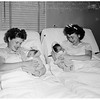 Sisters with babies (Queen of Angels Hospital), 1952