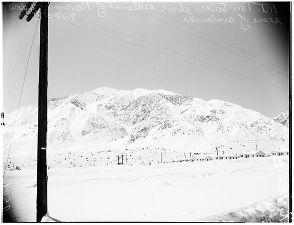 Snow at Bishop, 1952