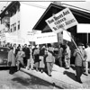 Pickets at Polish meeting ...Echo Park Women's Club, 1952