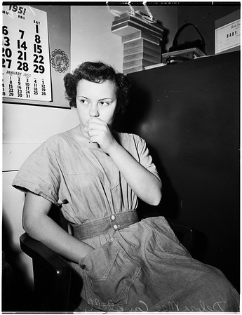 Baby-sitter who killed Donna Isbell, 1951