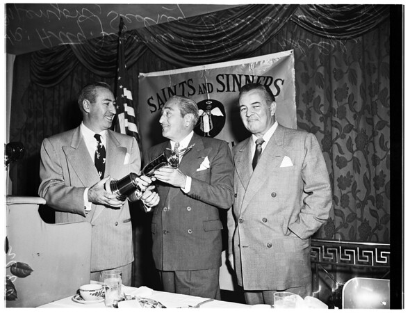 Saints and Sinners luncheon, 1951