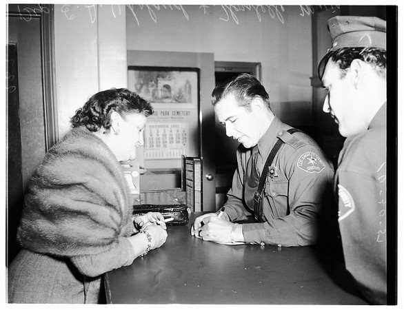 Tone Narcotics Arrest (East Los Angeles Sub-Station, West Los Angeles Sub-Station), 1951