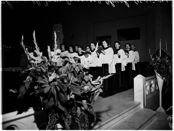 Christmas Service in Saint James Episcopal Church, 1951