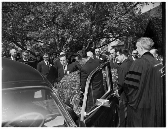 George F. Young funeral, 1952