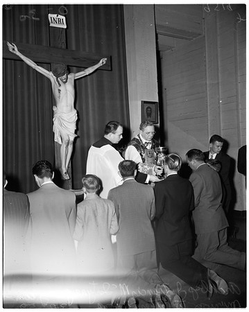 Father and son communion breakfast, 1952