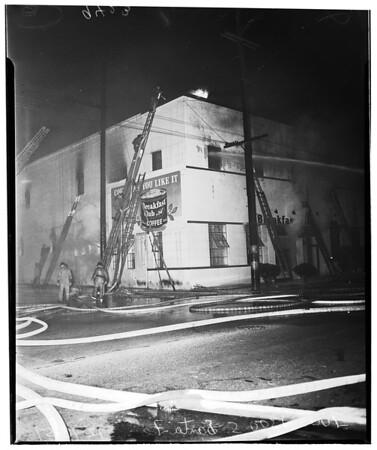 Fire at 1300 South Santa Fe, 1951