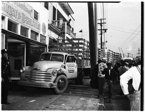 Truck accident, 1952.