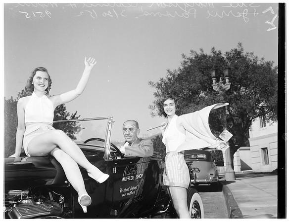 Hot rod show at Pasadena, 1952