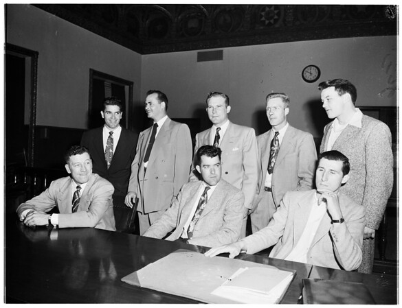 Police brutality arraignments, 1952