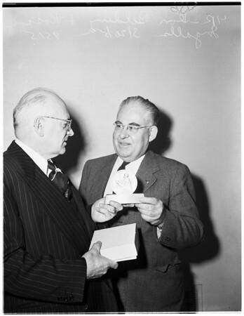 Freedom Foundation award, 1952