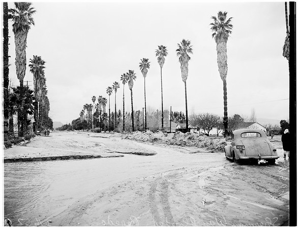 Storm aftermath ...Reseda, 1952