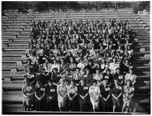 Rose Queen Contestants, 1951