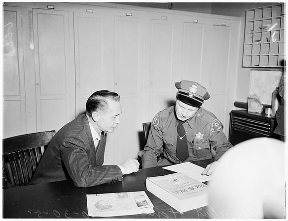 Tone Narcotics Arrest (East Los Angeles Sub-Station, West Los Angeles Sub-Station), 1951