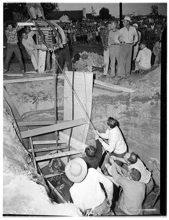 Cesspool cave-in in Pico, 1952.