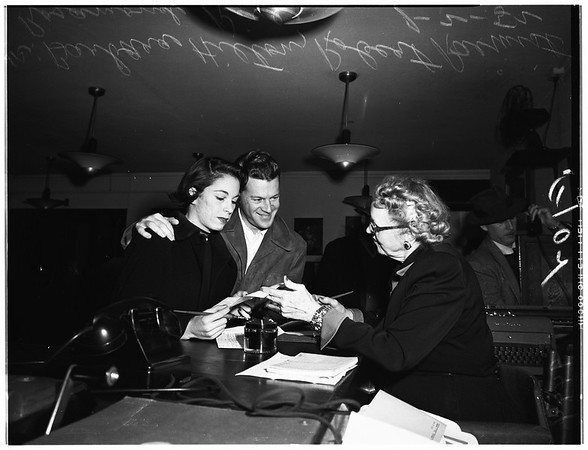 First marriage license of 1952, 1952