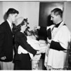 Christening, Saint Ferdinand's Church, San Fernando, 1952