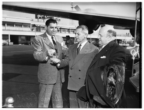 Pacht Arrival ...International Airport, 1951