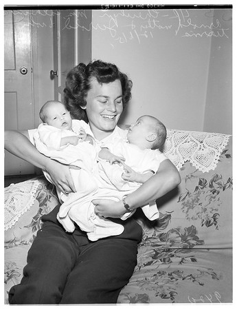 Twins for Papa in Korea, 1951