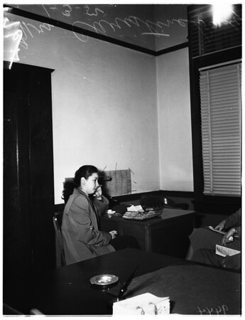 Little girl in juvenile hall, 1952