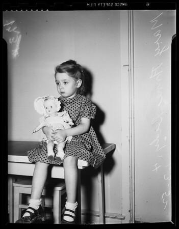 Abandoned child at juvenile hall, 1952