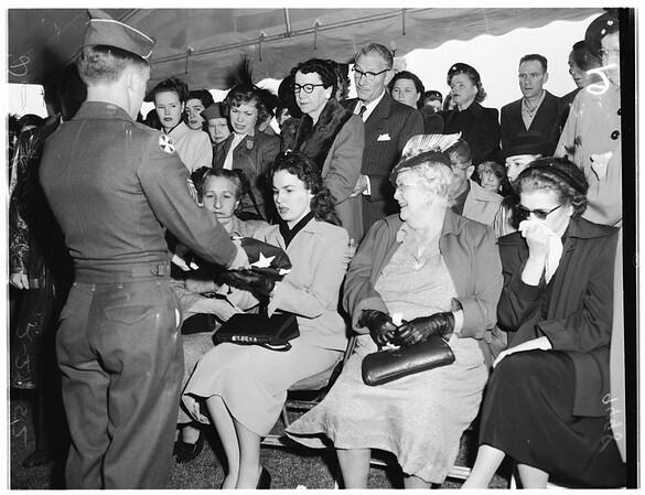 Dana funeral (San Pedro) (Donald Dana), 1952