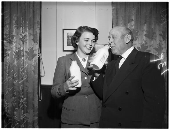 British young farmer girl, 1951