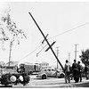 Auto hits pole at 5950 Venice Boulevard, 1952.