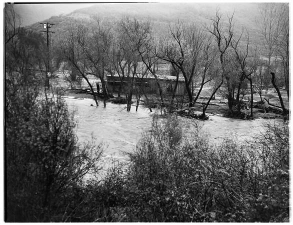 Malibu Lake flooded, 1952