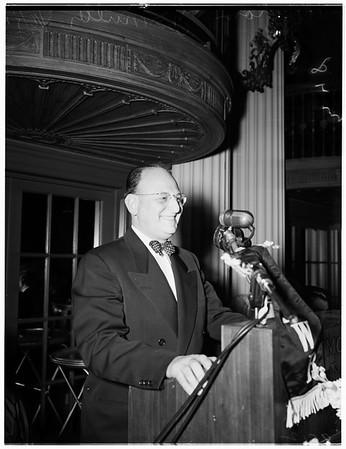 Zion Club speaker, 1952