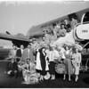 Stars arrive at Burbank Airport, 1952