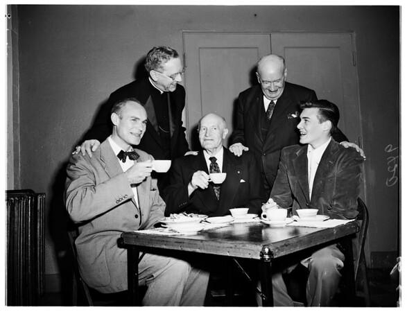 Saint Vincent De Paul Society meeting, 1951