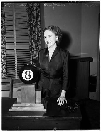 "President's daughter ""Meets the Press"" at Greater Los Angeles Press Club at Ambassador Hotel, 1952"