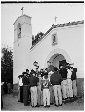 Dedication of new chapel at San Antonio Ranch, 1952
