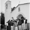 Dedication of new chapel at San Antonio Ranch, 1952